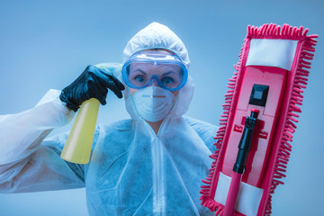 Antivirus and antibacterial protection from diseases - cleaning everything around you is essential.