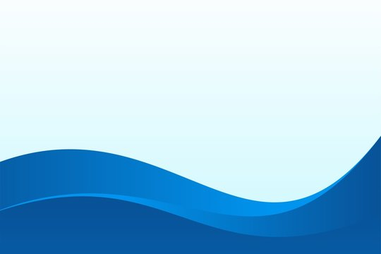 Abstract Blue Wave Background Design with Empty Space for Text Template Vector