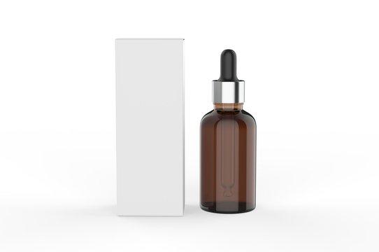 Blank Dropper Bottle For Mock up And Branding, 3d Render Illustration