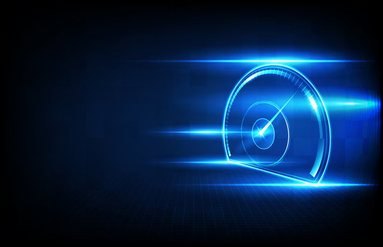 abstract background futuristic technology halogram of car user interface hud ui speed meter guage