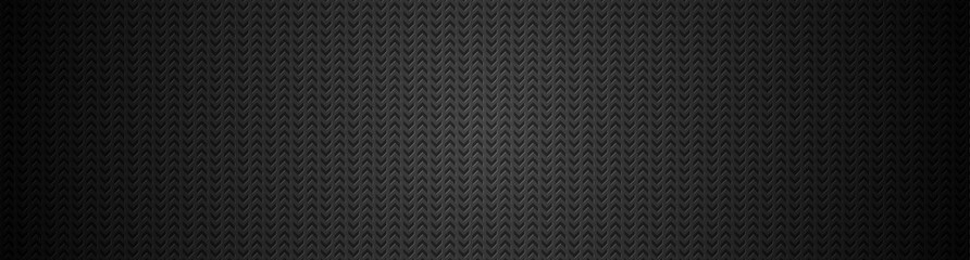 Wall Mural - Black abstract minimal banner with arrows perforated texture. Vector technology background