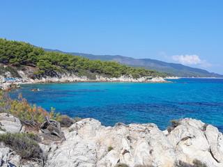 Orange beach in Chalkidiki
