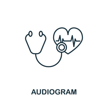 Audiogram icon from health check collection. Simple line Audiogram icon for templates, web design and infographics