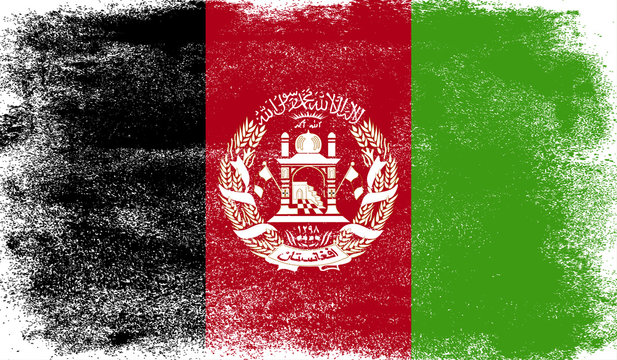 Afghanistan flag with grunge texture