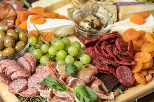 Close up of Gourmet Charcuterie Board