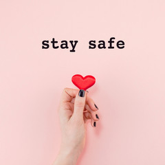 Stay safe concept
