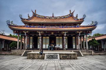Wall Murals Place of worship Characteristic distinctive buddhist temple in Taipei, Taiwan
