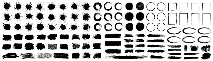 Papiers peints Forme Set different splash, collection brush strokes – for stock