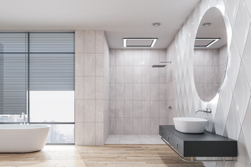 Minimalistic bathroom interior