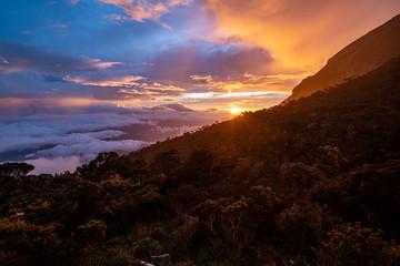 Fotorollo Braun Sunset mount Kinabalu