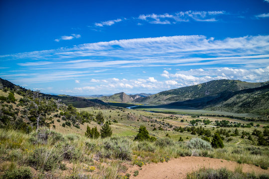 A beautiful overlooking view of nature in Lewis and Clark Caverns SP, Montana