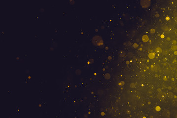 Abstract Gold bokeh for Celebration.Merry Christmas and New Year