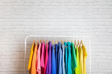 Women's wardrobe sweatshirts shirts and blouses Wall mural