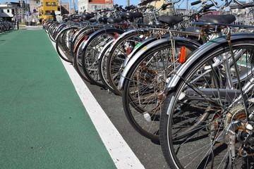 Aluminium Prints Bicycle 自転車置き場