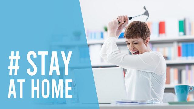 Humorous Coronavirus stay at home awareness campaign