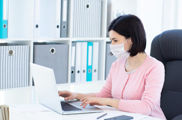 Woman teleworking during coronavirus pandemic