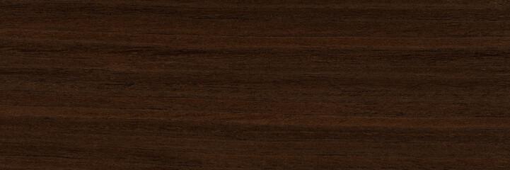 Elegant veneer background in superlative dark brown color. Natural wood texture, pattern of a long...