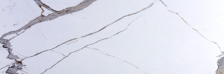 Tuinposter Marmer White precious stone texture. Long slab pattern for your interior design or web site.