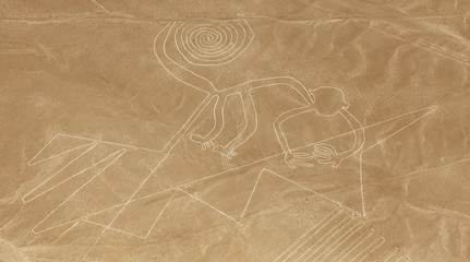 Monkey geoglyph, Nazca mysterious lines and geoglyphs