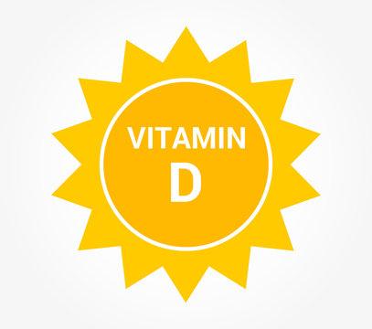 Sun icon, vitamin D production symbol.