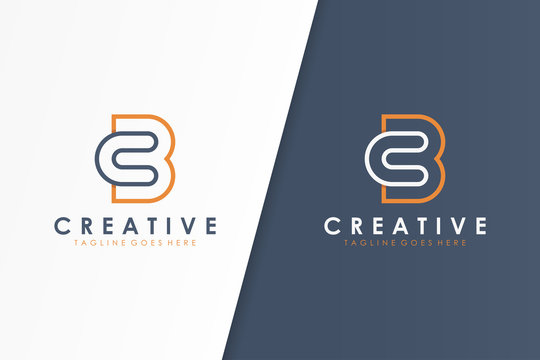 Initial Letter C and B Logo Line Linked. Flat Vector Logo Design Template Element.