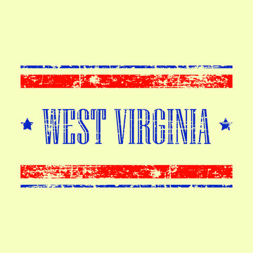 west virginia state usa american vector illustration stamp sign