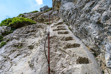 Hiking and climbing in the Tannheimer Tal Wall mural