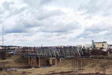 Old railway bridge in the city limits.