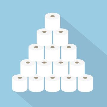 stack of toilet paper rolls- vector illustration