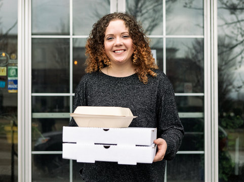 Crisis: Server Brings To Go Food Outside