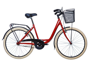 Printed roller blinds Bicycle Urban bicycle on isolated white background
