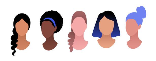 Profile pictures avatars vector set