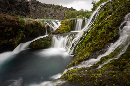 Natural creek of Gjáin, Southern Iceland