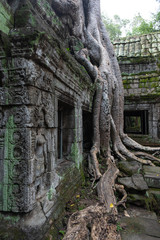 Foto op Canvas Historisch mon. Picturesque scenery of ruins of ancient temple