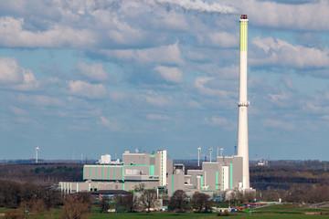 Müllverbrennungsanlage Asdonkshof bei Moers, Deutschland