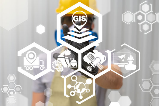 Geographic Information System (GIS) Modern Industry Transportation Concept.