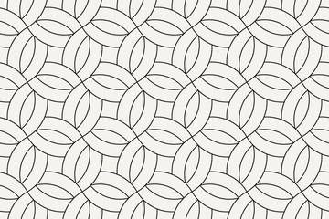 Photo sur Plexiglas Artificiel Geometric seamless pattern. Vector background with abstract line texture. Neutral monochrome wallpaper, black white simple light linear ornament for wrapping paper, textile. Decorative design element
