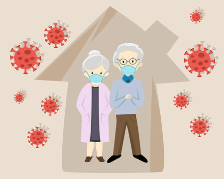 A couple in a house quarantine because of sickness