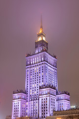Palace of culture and science in Warsaw - Poland