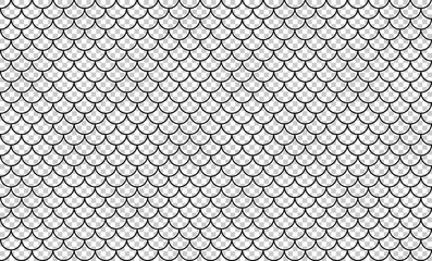 line art of fish scale pattern isolated on transparent background, tile pattern line, mermaid tail pattern grid for decoration