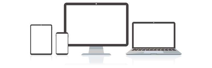 pc laptop smartphone vector illustration Fotobehang