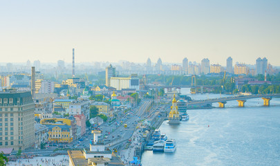 Fototapete - Panorama of Kyiv. Ukraine