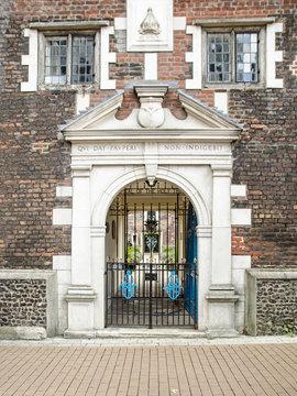 Entrance to Whitgift Almshouses,Croydon