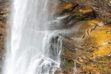Diesbach  big waterfall in the Alps of Glarus Süd, Switzerland.