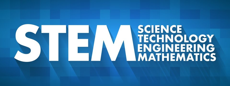 STEM - Science, Technology, Engineering, Mathematics acronym, education concept background