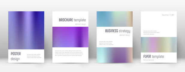 Flyer layout. Minimalistic imaginative template fo Wall mural