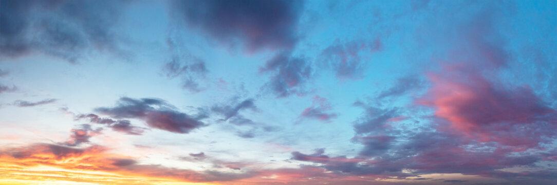Beautiful sunset cloudy sky
