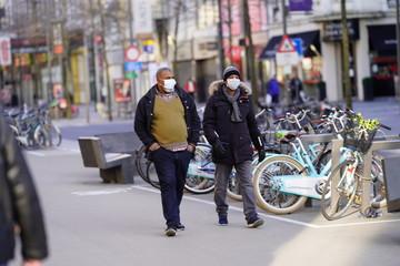 Foto auf Acrylglas Antwerpen Antwerp lockdown covid-19 corona virus