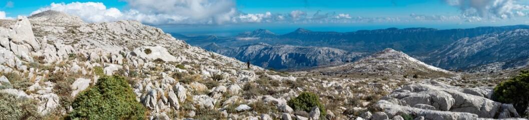 Photo sur Plexiglas Gris Sardegna, panorama del Supramonte, Italia