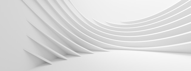 Photo sur Plexiglas Abstract wave Abstract Wave Background. Minimal White Geometric Wallpaper
